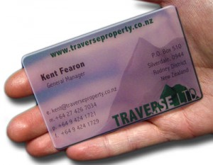 Transparent Frosted Plastic Cards