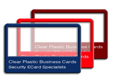 Clear plastic business cards transparent cards security ecard clear plastic business cards transparent cards reheart Choice Image