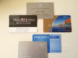 Loyalty cards for hotels